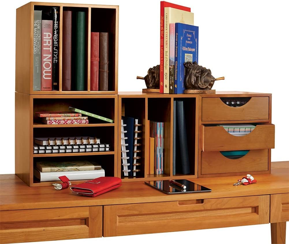 Levenger Cubi Desk Bookcase with New Shipping Free Office Popular standard 3 Stackable Org Drawers