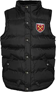 West Ham United FC Official Football Gift Mens Padded Body Warmer Jacket Gilet