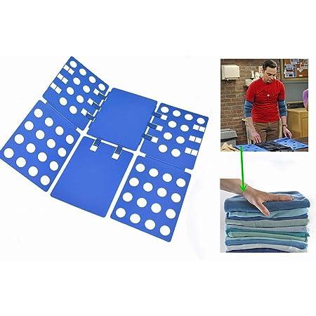Nifogo Aide au Pliage du T-Shirt, Pliage des vêtements, Flexible, stylé, Chemise pour Pantalon pour Enfant et Adulte, 70 x 57 cm(Bleu)