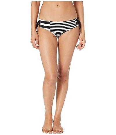 MICHAEL Michael Kors Stripe Group Lace-Up Bikini Bottoms (White) Women