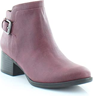 Womens Keaton Ankle Faux Leather Booties