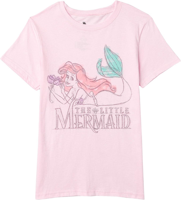 Junk Food Girl's Disney Little Mermaid T-Shirt (Little Kids/Big Kids)