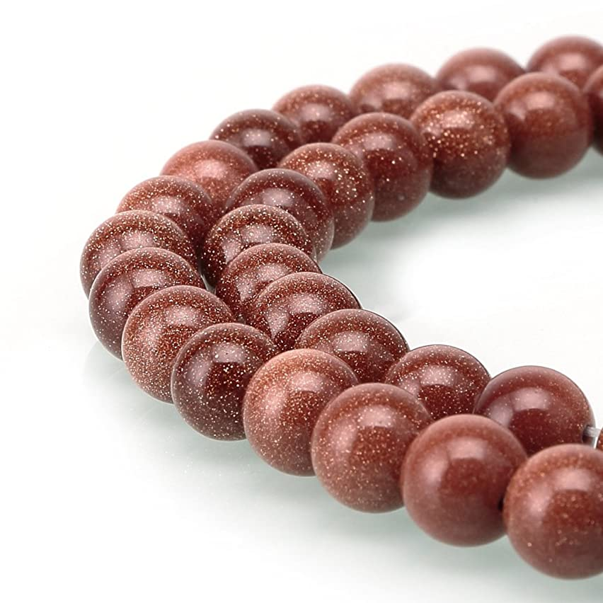 Top Quality Natural Gold Sandstone Gemstone 10mm Round Loose Beads 15.5