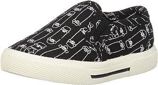 carter's Boys' Damon Casual Slip-on Sneaker Skate Shoe, Black, 8 M US Toddler