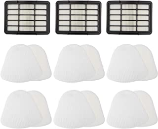 Extolife Vacuum Filter Replacement Kit for Shark Navigator Lift-Away NV350 NV351 NV352 NV355 NV356E NV357 NV360 NV370 NV391 UV440 UV490 UV540, XFF350&XHF350, 3 HEPA Filters + 6 Foams & Felt Filters