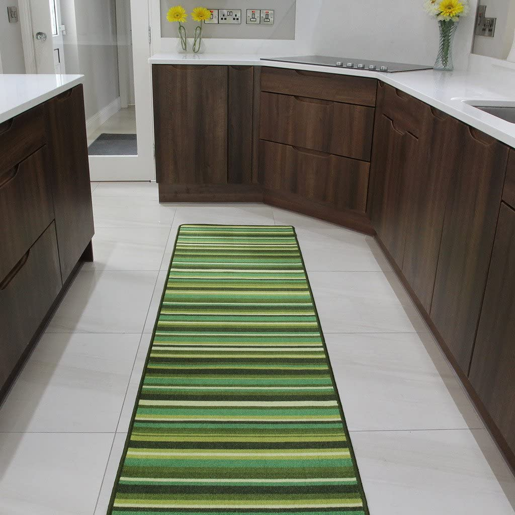 The Rug House Green Max 49% OFF Stripe Anti mat and Entrance Creep Door Runn Special price