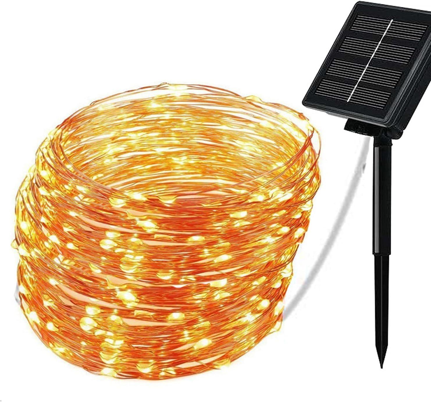 Cadena solar de luces LED de exterior por sólo 9,99€ con el #código: MP3TW7J9