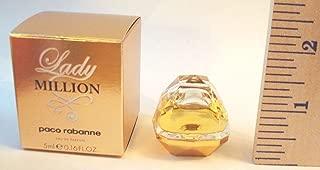 Lady Million by Paco Rabanne 0.17 oz Eau de Parfum Miniature Collectible by Unknown