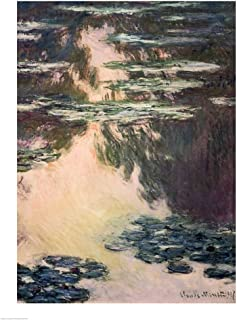 Waterlilies with Weeping Willows, 1907 by Claude Monet Art Print, 17 x 22 inches