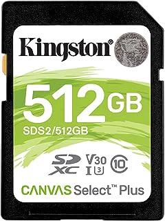 キングストン SDXCカード512GB 最大100MB/s Class10 UHS-I U3 V30 Canvas Select Plus SDS2/512GB 永久保証