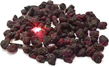Rough Ruby Crystals 100 Ct Natural Healing Gems Lot of 10 Pcs Raw Stones for Cabbing, Lapidary, Tumbling, Wire Wrapping, Reiki and Wicca