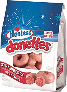 Hostess Strawberry Mini Donuts, Limited Edition 10.5oz, pack of 1