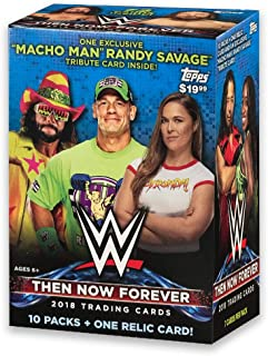 WWE Then/Now/Forever Wrestling Trading Cards Blaster Box, Pack of 1