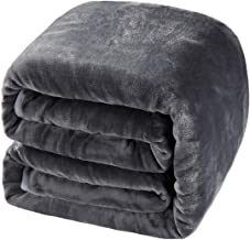 BALICHUN Soft Fleece Queen Blanket Winter Warm Brushed Flannel Blankets All Season Lightweight Thermal Throw for Bed, Sofa or Couch Dark Grey 90
