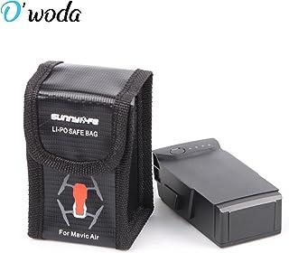 O'woda Incombustible A Prueba de explosiones Bolso Seguro de la batería de Lipo Manga Lipo Bolsa Protectora de la batería Saco de Carga Bolsa de protección para dji Mavic Air (Tamaño pequeño)