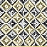 ABAKUHAUS Modern Stoff als Meterware, Quadratische Linien,