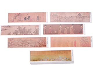 WSSROGY 30PCS Vintage Style Bookmarks, Colorful Ancient Chinese Painting Theme Postcard Bookmarks Note Pads Memo Pads