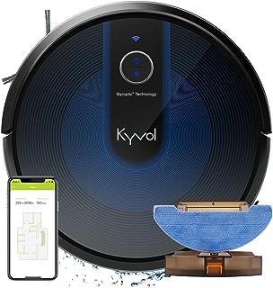 KYVOL 2 en 1 Aspirateur Robot Laveur avec Aspiration Puissante, Autonomie de 150min, Système de Lavage Adjustable, 600ml+3...