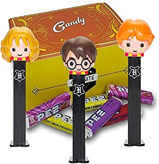 Harry Potter Pez Candy Dispensers Set - With 6 EXTRA Pez Candy Refills | One Of Each Harry Potter, Hermione Granger and Ro...