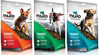 Nulo Freestyle Grain-Free Training Treats Variety Pack, Turkey, Duck, and Salmon Recipes