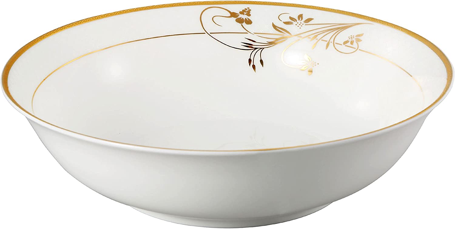 Lorren Home Free shipping Trends Rosalia Collection Fixed price for sale 9 China Bowl Serving Bone