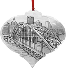 Wendell August Pittsburgh's Fort Pitt Bridge Ornament by JP Diroll, Handmade in America at Forge, Pittsburgh Christmas Ornament