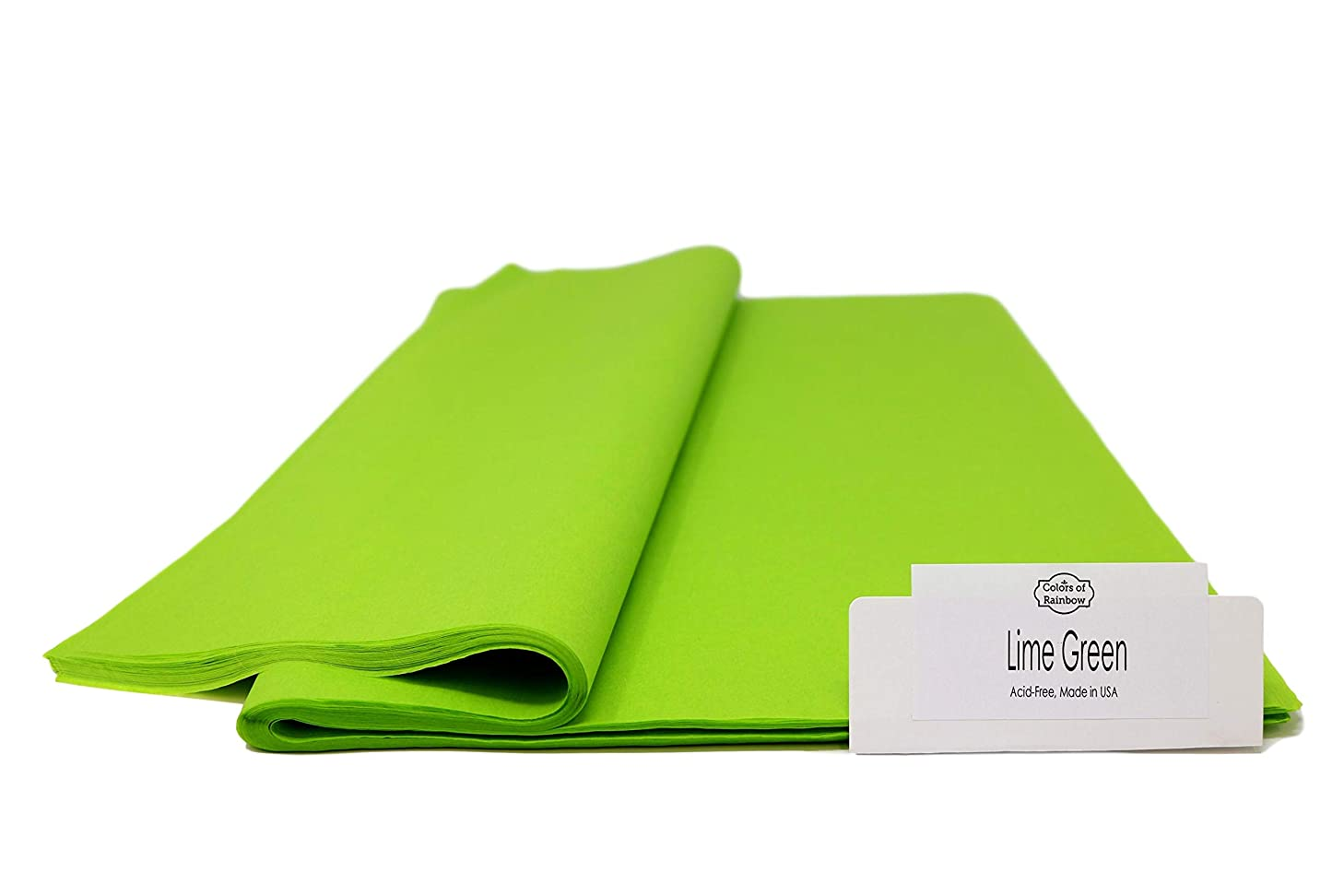 """Lime Green - 96 Sheets - Gift Wrapping Tissue Paper 15"""" x 20"""" - Made in United States by Colors of Rainbow?"""