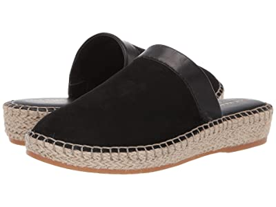Cole Haan Cloudfeel Espadrille Slide (Black Nubuck/Black Leather/Natural Jute/Gum) Women