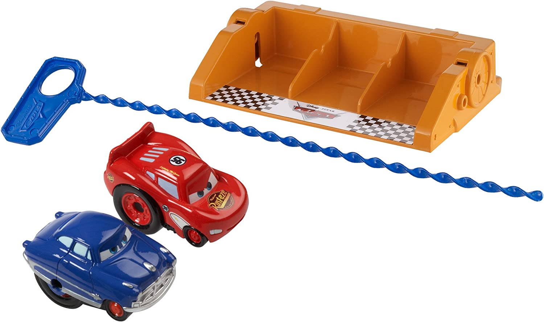 Disney Pixar Cars Riplash Racers Radiator Springs Lighning McQueen & Doc Husdon Vehicle by Mattel