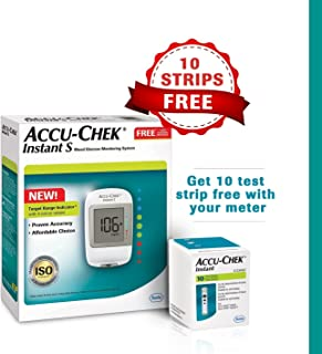 Accu Chek Pro - Accu-Chek Instant Blood Glucose Monitoring System with Free Test Strips, 10 Count - (Multicolor)