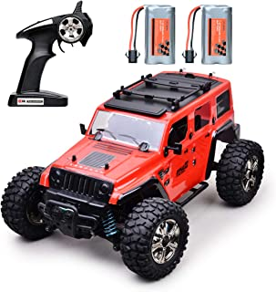Remote Control Car RC Cars Off-Road 4WD 2.4Ghz Radio RC Rock Racer All Terrain Electric Car 1/14 Scale RTR Hobby Toy, Remote Control Trucks High Speed Racing Monster