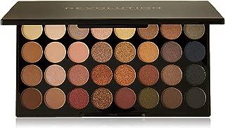 Makeup Revolution London 32 Flawless Eyeshadow Palette, Multi-Color, 16g