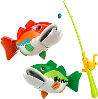Forty4 Fishing Game Toy Set, Magnetic Fishing Game, Toddle Toy Fishing Game, Includes 2 Fish and 1 Fishing Poles, Safe and...