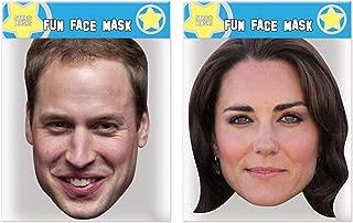 Great Value Multipacks William & Kate - Twin Pack - Celebrity Face Masks