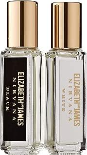 Elizabeth and James Nirvana Perfume Black & White Rollerball Duo New
