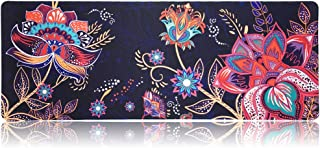 SANFORIN Extra Large Mouse Pad, Floral Design Gaming Mouse pad Desk Mat 31.5