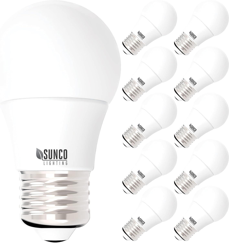 Sunco Lighting 10 Pack A10 LED Bulb, 10W=10W ...   Amazon.com