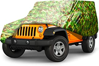 BORDAN Car Cover All Weather Protection Waterproof SUV Cover Fit for 1987-2019 JK, JL, CJ, YJ, TJ 2 Doors