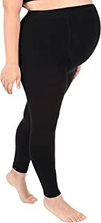 Absolute Support Maternity Compression Leggings Graduated Footless Compression Stockings Tights 20-30 mmHg Firm Support - Size Medium, Black A718BL2