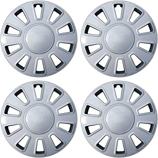 17 inch Hubcaps Best for 2006-2011 Crown Victoria - (Set of 4) Wheel Covers 17in Hub Caps Silver Rim Cover - Car Accessories for 17 inch Wheels - Snap On Hubcap, Auto Tire Replacement Exterior Cap