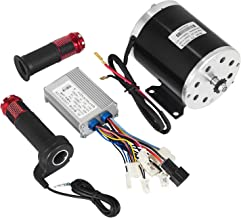 Mophorn 500W DC Electric Motor 24V Permanent Magnet DC Brush Motor Kit 2500RPM with Reverse Switch and Speed Control and Throttle Fit for Mini Bike Quad and Go-Kart (24V 500W DC Motor with throttle)