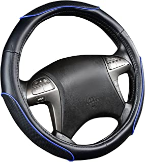 14.5-15.5 in Steering Wheel Cover Cartoon Leather Four Seasons Universal Steering Wheel Cover Universal Size 37-39cm
