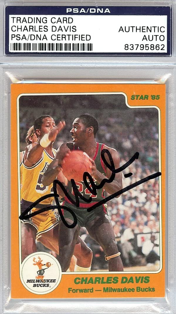 Charles Davis Fresno All items in the store Mall Autographed 1985 Star Card PSA #127 DNA #83795862