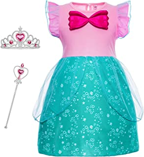 Princess Generic Costume for Toddler Girls Dress Up Birthday Party 12M-6 Years