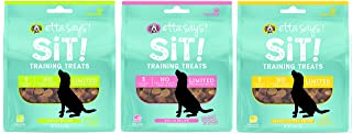 ETTA SAYS! Sit Training Treats for Dogs – Pack of 3 – Made in The USA, Limited Ingredients, Low Calorie, No Gelatin, Wheat, Corn or Soy