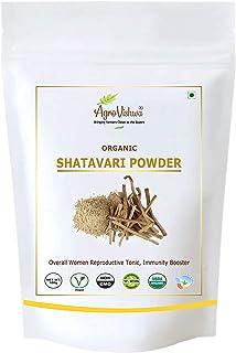 Agrovishwa USDA Organic Certified SHATAVARI Powder   Intro.Offer, Ayurvedic Female Tonic, Balances Hormones, Period Proble...