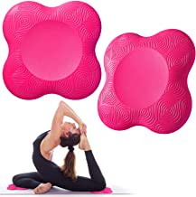 Bigmeda 2 STKS Yoga Knie Pad, Anti-slip Yoga Matten voor Vrouwen Knielende Ondersteuning voor Yoga Comfortabel en Lichtgew...