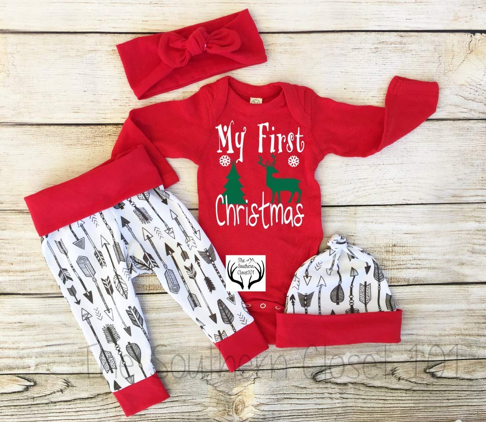 Baby Girl Christmas ho Outfit Sales for sale safety Coming