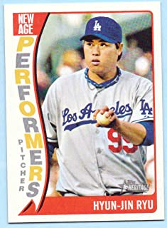 Hyun-Jin Ryu 2014 Topps Heritage New Age Performers #NAP-HR - Los Angeles Dodgers