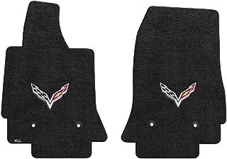 Fits 2014-2018 C7 Corvette Stingray Floor Mats w/ Flags: Black